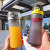Portable Frosted Water Bottle with Bouncing Cover - GRAY