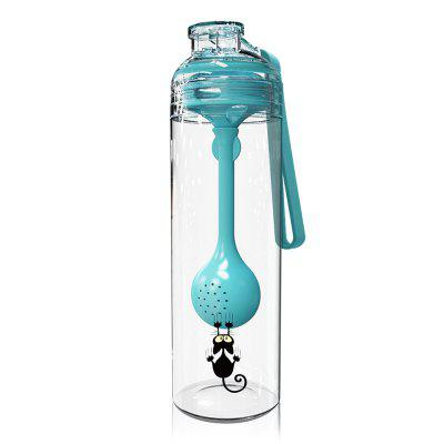 Portable Sports Drinking Water Bottle with Multi-function Spoon for Kids Adults