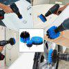 6pcs Drill Brush Scouring Pad Attachments for Bathroom Kitchen Cleaning - BLUE