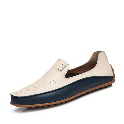 Men Loafers Leather Moccasins Men Driving Shoes High Quality Flats