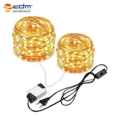 ZDM LED Light String Plug-in Design Silver Wire IP65 Waterproof Grade for Illumination / Decoration