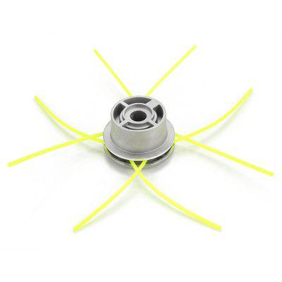 Aluminum Alloy Grass Trimmer Head Garden Lawn Mower Accessories with 4 Mowing Lines
