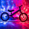 Leadbike Children Bicycle Flower Drum Light Balance Car with USB Cable - WHITE