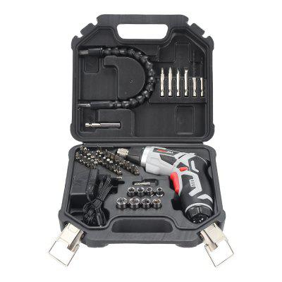 Rechargeable Battery Electric Screwdriver Cordless Drill with Flashlight