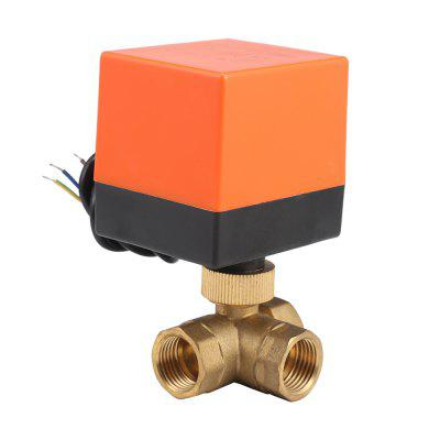 230V Electric Motorized Thread Ball Valve Air-conditioning Water System Controller 3-way 3-wire