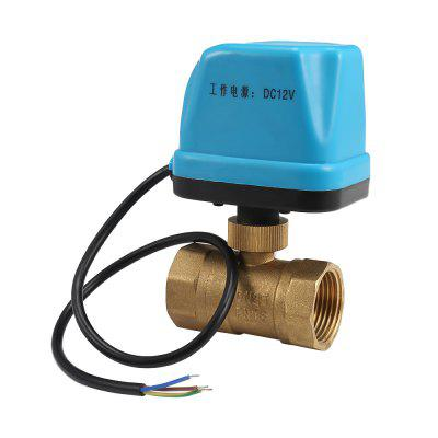 12V Electric Motorized Thread Ball Valve Air-conditioning Water System Controller 2-way 3-wire