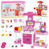 Multifunctional Kitchen Toys with Sound and Light - HOT PINK