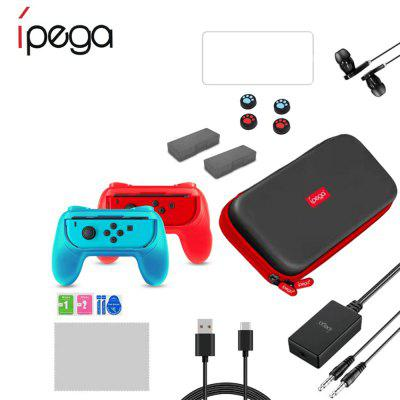iPEGA PG - 9182 18-in-1 Controller Pack Tempered Film Card Box Earphones USB for Switch