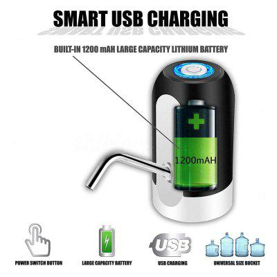 Portable Electric Auto Water Pump Dispenser Gallon Bottle Button Switch Drinking