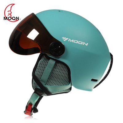 MOON Outdoor Casco da Sci Integrato a Ventose PC Coperchio EPS per Pattinaggio da Ciclismo