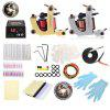 WORMHOLE TATTOO Complete Kit 2 Machines Tools - SILVER AND GOLDEN