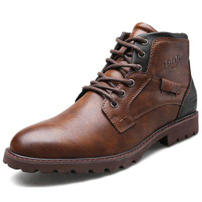 Men's Leather Shoes Outdoor Casual Martin Boots
