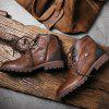 Men's Leather Shoes Outdoor Casual Martin Boots - BROWN