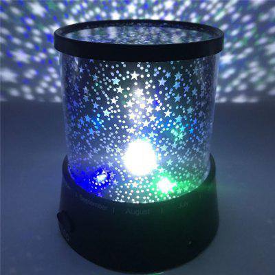 Fantasy Romantic Lamp Starry Sky Rotating Star Projector Bedroom LED Night Light
