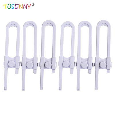 TUSUNNY SH1.080C 6PCS Children Safety Locks Eco-friendly Material for Double Doors Cabinets Windows