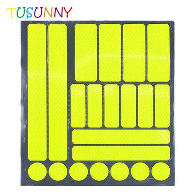 TUSUNNY SH1.294 Reflective Tape Warning Lattice Luminous Sticker