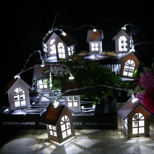 Romantic 10 LED Wood House Shape Bulbs String Fairy Lights for Wedding Party