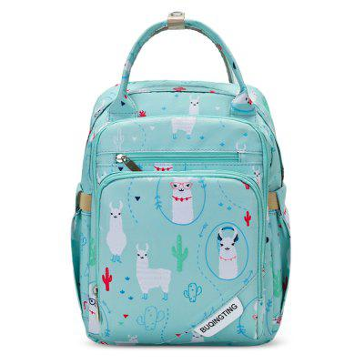 Multifunctional Backpack Large Capacity Cartoon Pattern Insulated Mommy Bag