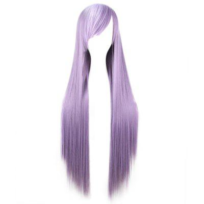 Side Bangs Long Straight Synthetic Wig for Cosplay Party