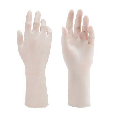 1 Pair of Disposable Latex Gloves Powder Free Anti-bacteria Anti-pollution Safety Protection
