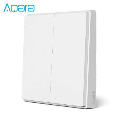 AQara QBKG21LM Wireless Smart Wall Switch 2-gang Design APP / Voice Control Over-heat Protection
