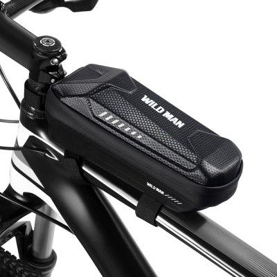 WILD MAN Front Frame Bicycle Bag EVA Mount Top Tube Pouch Phone Case Carrying Cycling Accessories for Mountain Road Bike