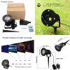 Lampwin Christmas Outdoor RGB Dynamic Firefly Projector Spotlight & Starry  Lawn Light, RF Wireless Remote, 7 color Modes, Timing Functions, IP65 Waterproof, For Patio, Lawn, Garden, Landscape, Holida - BLACK