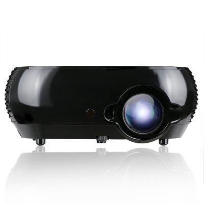 Excelvan W1 2017 Newly Launched Multimedia Portable Projector W1 With 2800 LED Luminous For Home Cinema Theater Support 1080P DVD PC Tablet and Smartphone