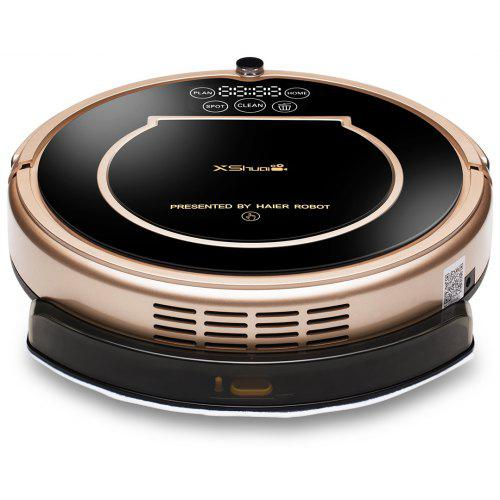 Haier XShuai T370 Robot Vacuum Cleaner with Alexa Voice Control Wi-Fi Connected Self-Charging Gyroscope Navigation 1500Pa Powerful Suction HEPA Filter Pet Hair & Allergies Friendly