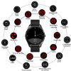 Diggro DI03 Bluetooth Siri Smart watch MTK2502C 128MB+64MB 1.15cm Ultra-thin IP67 Heart Rate Monitor Pedometer Sedentary Remind Sleep Monitor Notifications Pushing for Android & IOS - BLACK