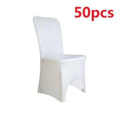50pcs SPANDEX LYCRA CHAIR COVER WHITE BLACK IVORY COVERS BANQUET WEDDING PARTY 五十件