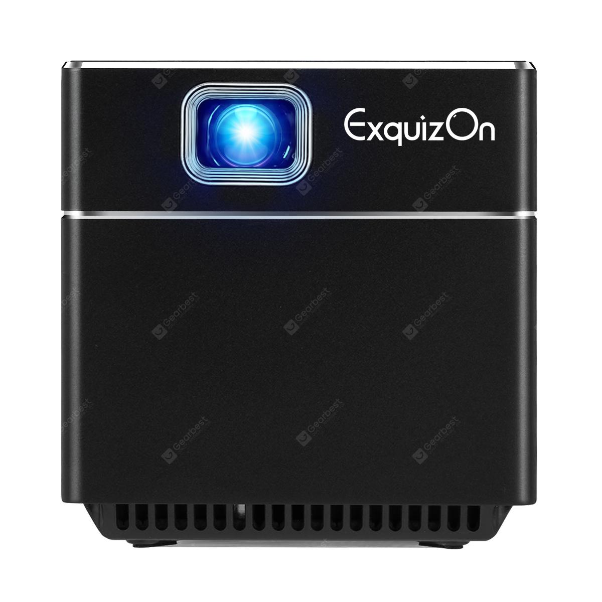 Exquizon S6 Mini Cube DLP Pocket Projector - BLACK EU PLUG
