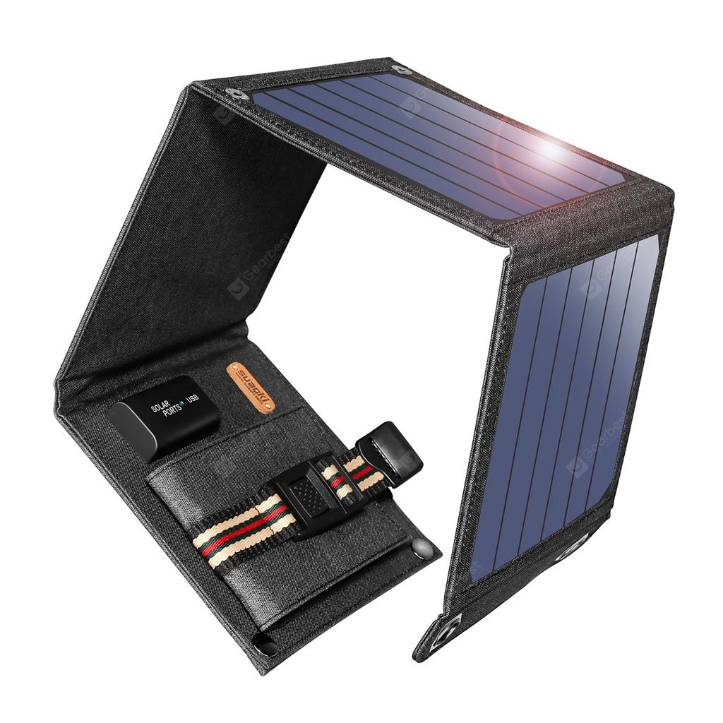 Suaoki Solar Panel Charger 14W USB 5V 2.1A - Gray 14W