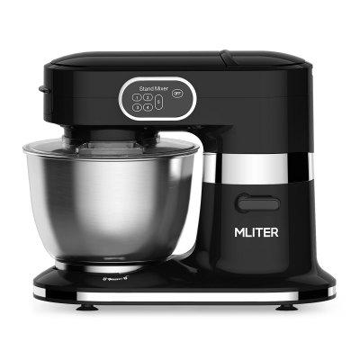 Mliter 1000W Electric Food Stand Mixer with 5.5L Stainless Steel Bowl, Dough Hook, Whisk, Splash Guard, 5-Speed, Black
