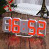 Red LED Digital Numbers Wall Clock with 3 levels Brightness Alarm Snooze Clock - RED
