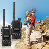 FLOUREON 22 Channel Handheld 2 Packs CTCSS/DCS Code Large LCD Display and keypad Twin FM Walkie Talkies Call Wireless Phone 2-Way Radio 7KM Range Programmable Interphone US - BLACK