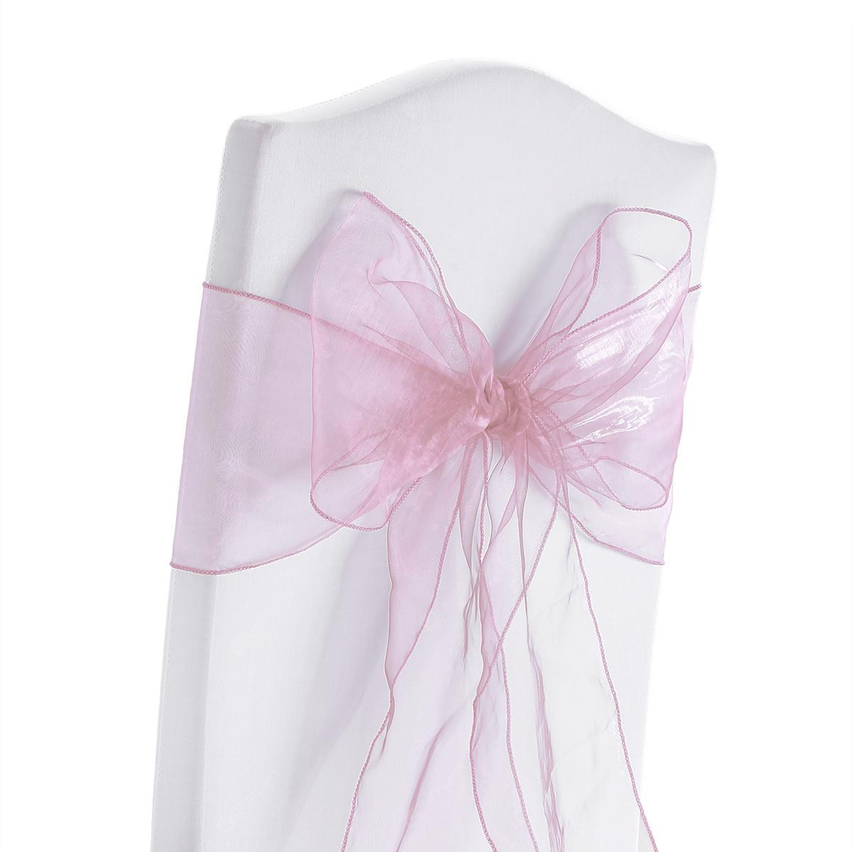 Organza Sashes Chair Cover Bows Sash Wider Sash Fuller Bows Wedding Party Birthday Decoration