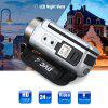 Floureon 1080P FULL HD Portable Digital Video Camera 2.7 TFT LCD 24MP 16x Zoom Camcorder DV  AV Output Night Light Sliver AU - SILVER