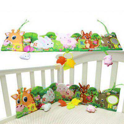 Baby Activity Book Cartoon Animal Soft Educational Development Cloth Book Plush Animal Toy