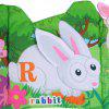 Baby Activity Book Cartoon Animal Soft Educational Development Cloth Book Plush Animal Toy - COLORFUL
