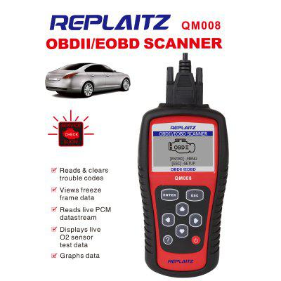 Replaitz OBD QM008 OBDII Code Reader Auto Code Scanner Work for US Asian And European Cars