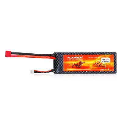 FLOUREON 7.4V 5200mAh 2S 30C Lipo RC Battery Pack With Hard Case for RC Helicopter RC Airplane RC Hobby (T Plug)