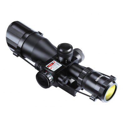 WELQUIC 2.5-10x40 Red&Green Illuminated Hunting Rifle Scope Laser Sight With 22mm Rail Mount