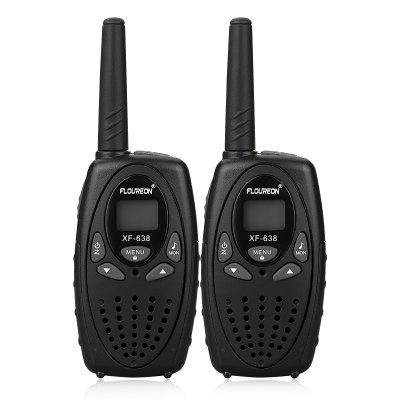 FLOUREON 22 Channel Walkie Talkies UHF462-467MHz Two-Way Radio 3KM Interphone Black US