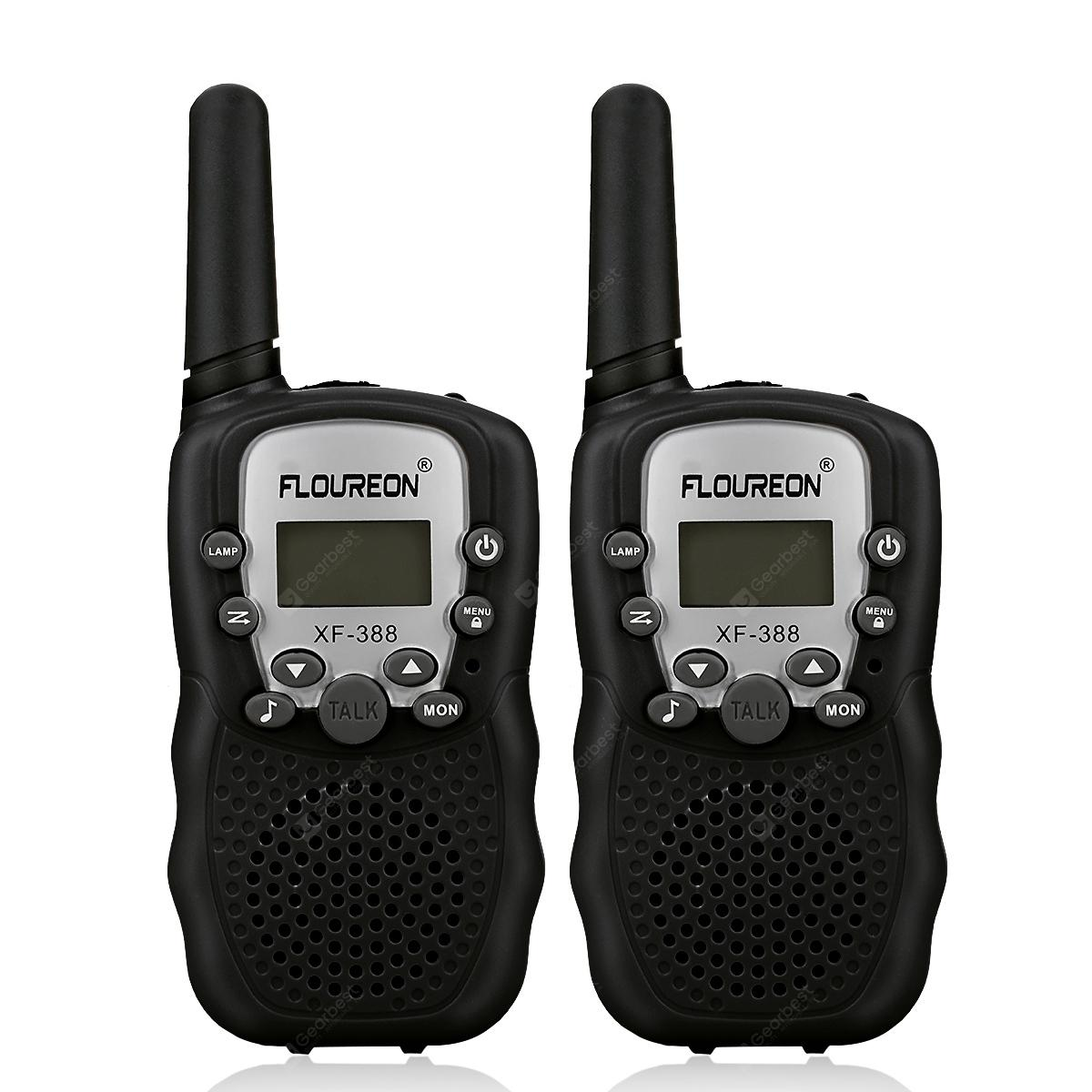 FLOUREON 8 Channel Walkie Talkies UHF400-470MHz two-Way Radio 3 Km Range Black EU/UK - BLACK