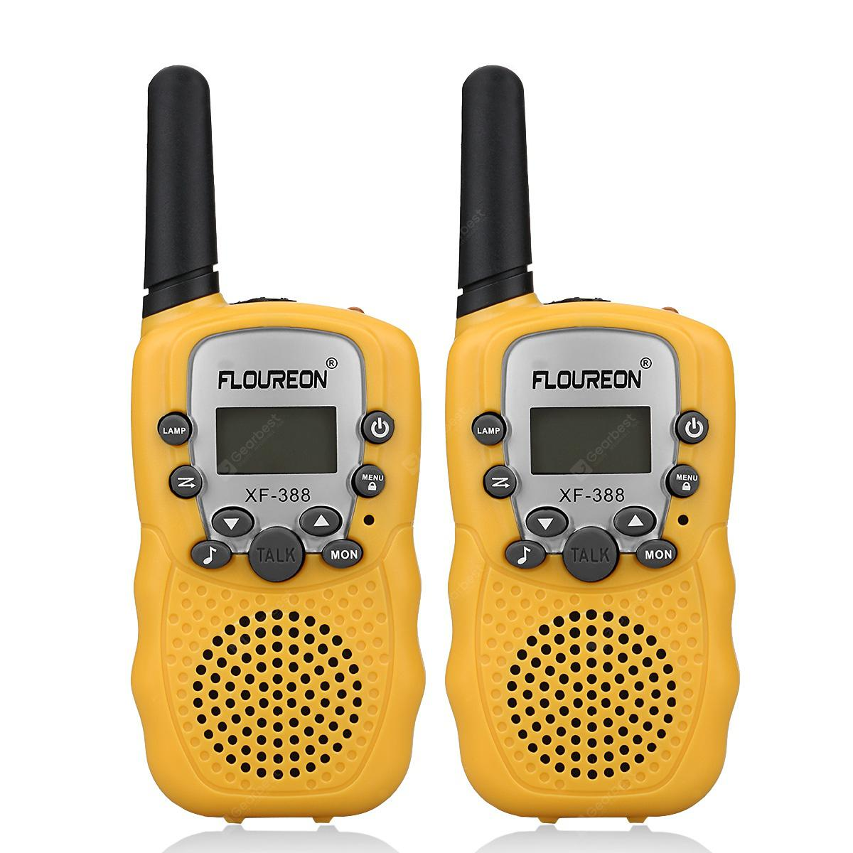 FLOUREON 8 Channel Walkie Talkies UHF400-470MHz two-Way Radio 3 Km Range Yellow EU/UK - YELLOW