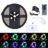 Lampwin 16.4ft LED Flexible Strip Lights 300 Units SMD 3528 LEDs With IR Remote Control  Power Supply DIY Decoration EU - WHITE