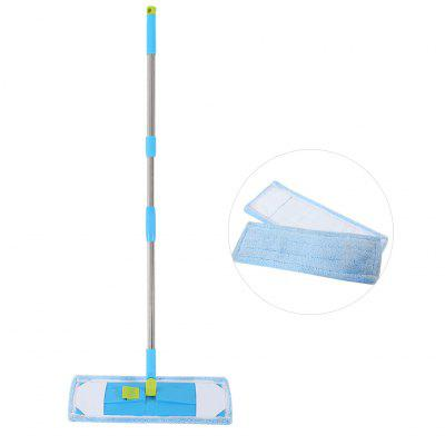 Finether Sweeper Cleaner Dry and Wet Mop for Cleaning Hardwood and Floors with Length-Adjustable Handle, 2 Microfiber Cloth replacements