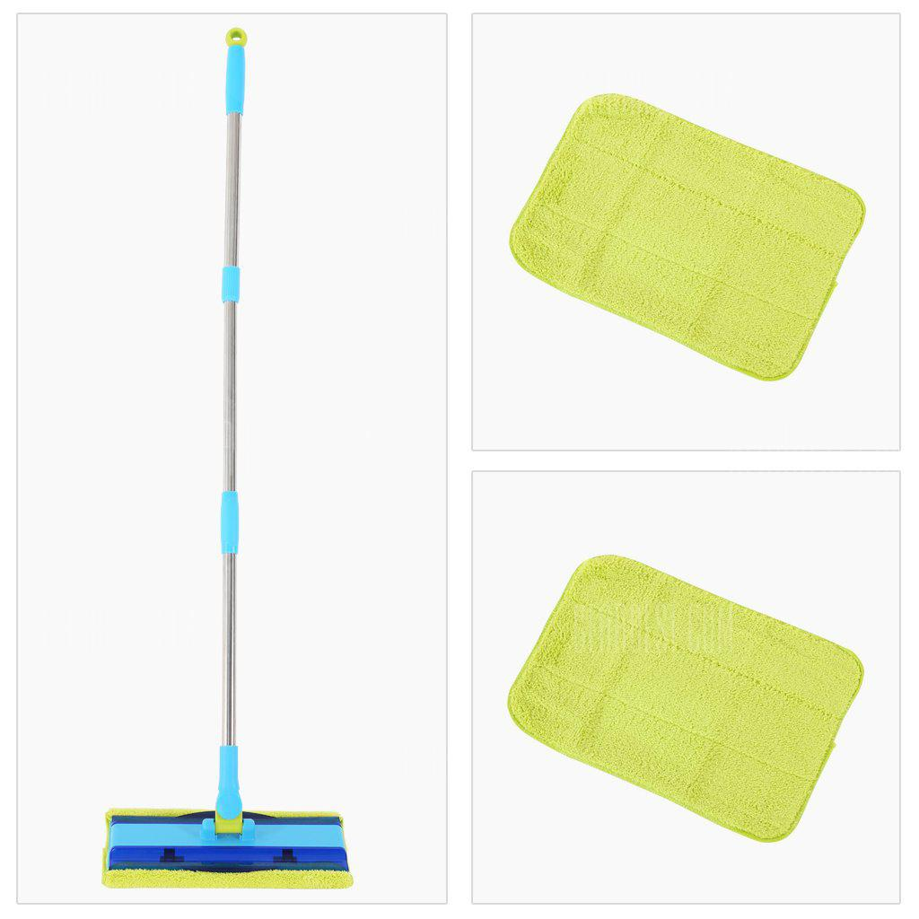 Finether Professional Microfiber Floor Mop | Stainless Steel Handle | Washable, Reusable | 2 FREE Microfiber Cloths | Wet or Dry Cleaning Kitchen, Bathroom, Hardwood Floors