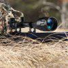 Welquic 6-24*50AOEG Red And Green Illuminated Hunting Scope Sight With Flip-open Scope Lens Cover and  22mm Mounts - BLACK